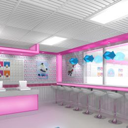 My Yogurt frozen yogurt shop interior design and branding Froyo Bar frozen yogurt shop interior design and branding