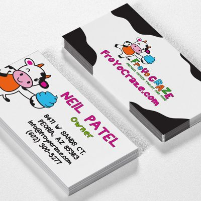 Yogurt shop business cards design