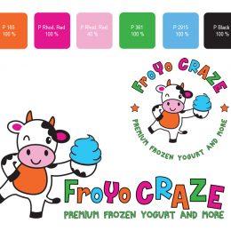 Yogurt shop logo design
