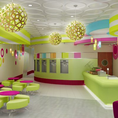 Froyo Fiesta frozen yogurt shop interior design and branding