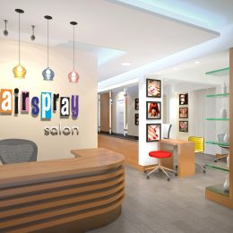Hairspray hairs salon interior design