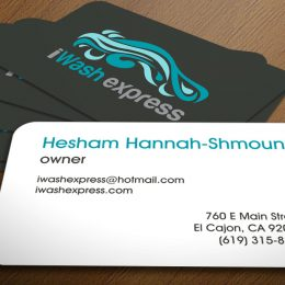 Car wash logo and cards design