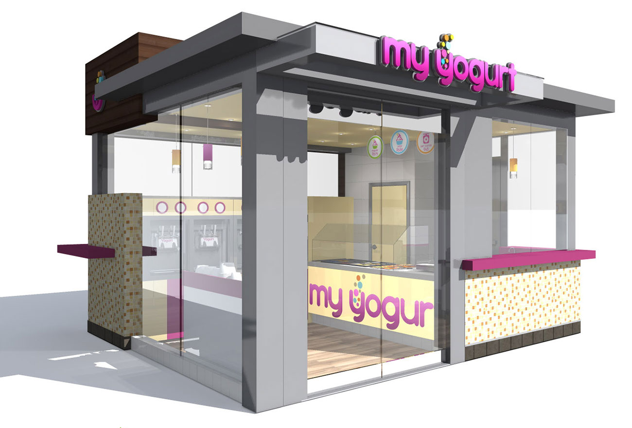 My Yogurt shop kiosk design