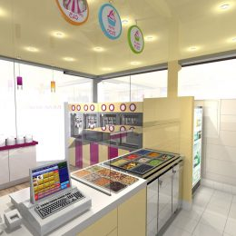 My Yogurt shop kiosk design