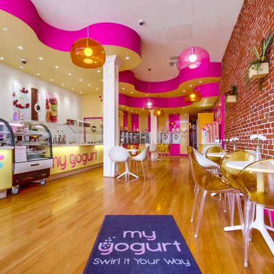 My Yogurt frozen yogurt shop interior design and branding