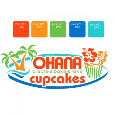 Cupcakes Store logo design