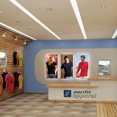 Pacific Apparel store design