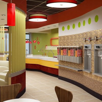 Top It frozen yogurt shop interior design and branding