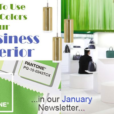 January Newsletter How To Use Bold Colors In Your Business Interior