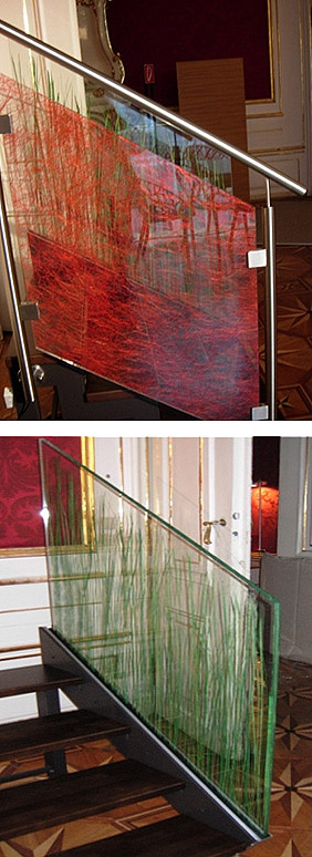 Glass Partition Stair