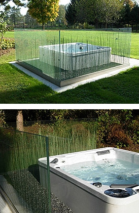 glass and grass partition