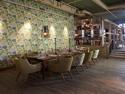 Restaurant Wall Covering