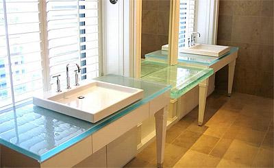 Glass Counter Bathroom Design