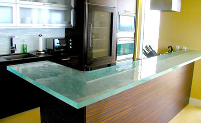 Kitchen Glass Counter Top