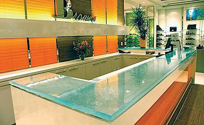 Glass counter Store Design