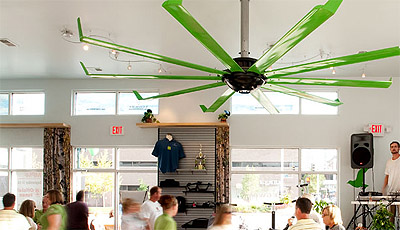Commercial interior big ass fans green choice mindful design big ass fan in action aloadofball Gallery