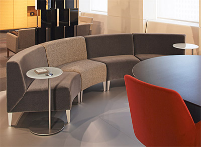 midular seating in commercial interior