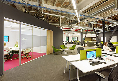 Office Design with Honeysuckle color