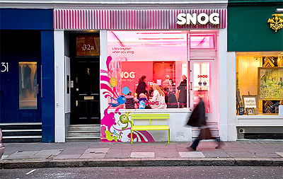 Yogurt Store Design Facade
