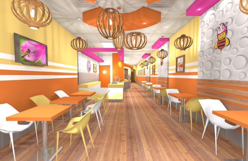 Bee Bee Yogurt Shop Design by Mindful Design Consulting