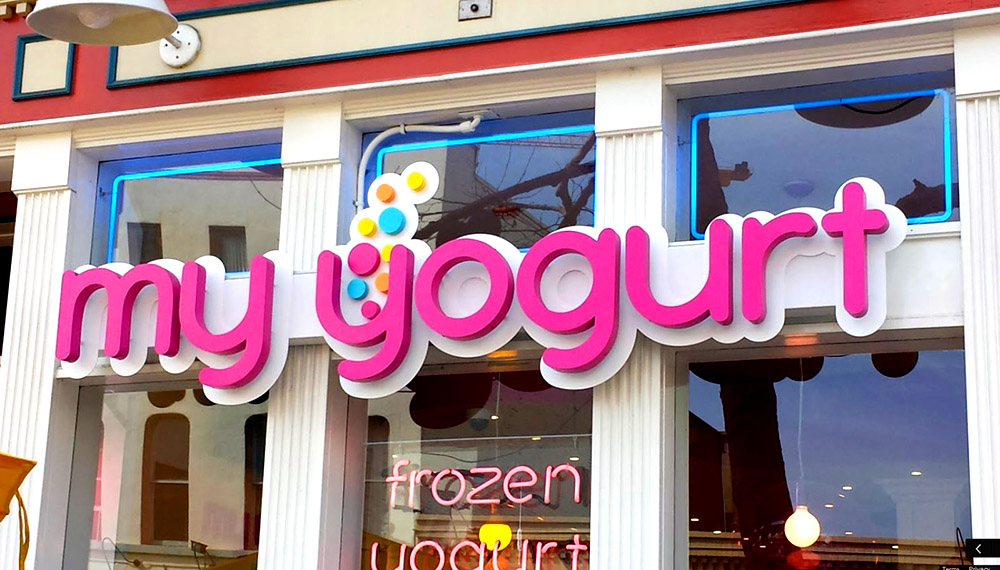 My Yogurt store signage