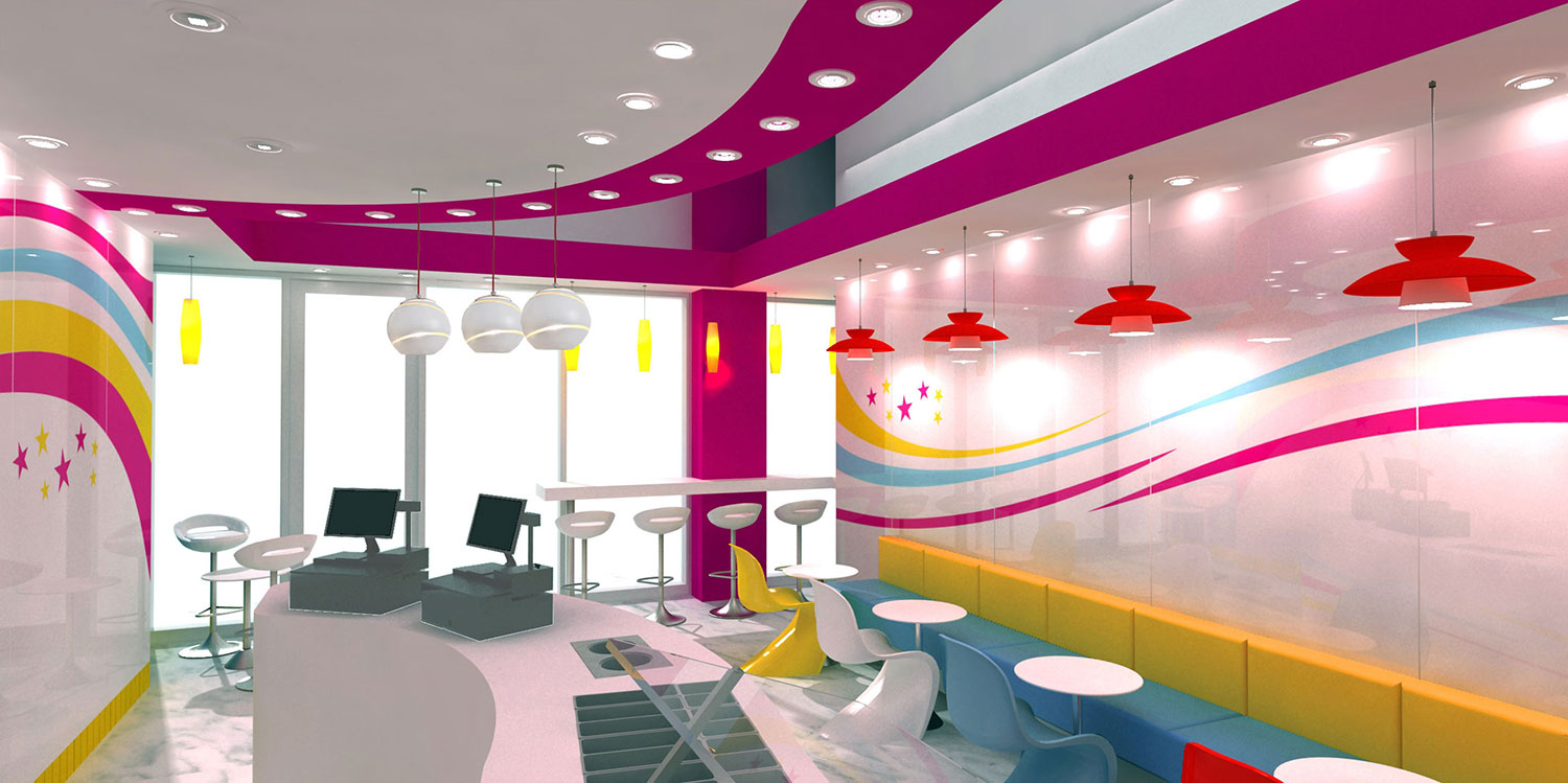 interior design of yogurt shops - commercial interior design news