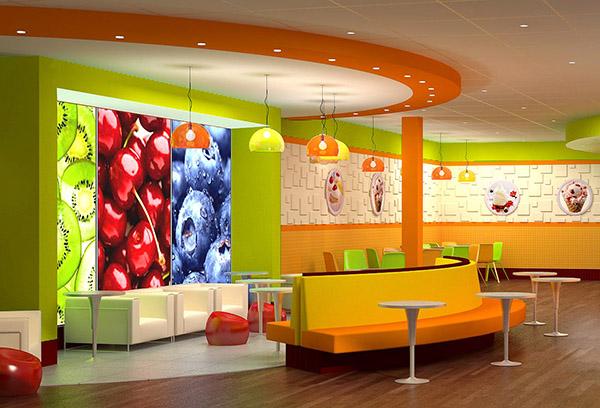 Yogurt Sundae Store Interior Design Commercial News