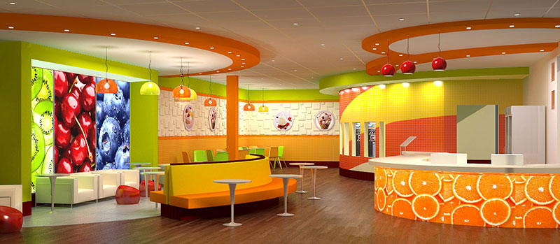 Yogurt Sundae store interior design