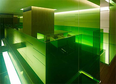 Interior in Green Colors