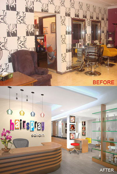 Hair Salon Before and After
