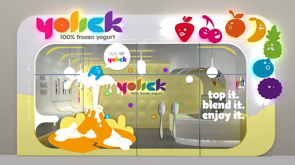 Yogurt Shop Store Front Design