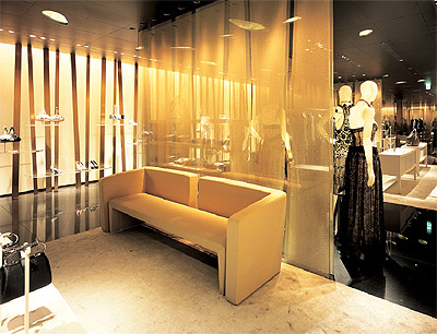 Commercial interior design of armani ginza tower mindful for Retail interior design