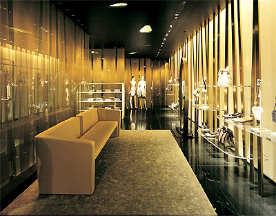 Commercial interior design of armani ginza tower mindful for Store interior design
