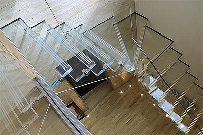 Glass Contemporary Stair Rails