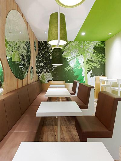 Restaurant Design Green Pallet