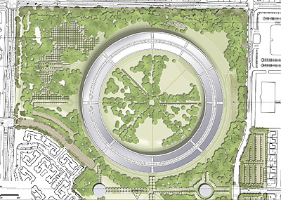 Apple Campus Site Plan