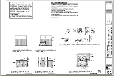 Cafe design typical floor plan pdf file - General notes for interior design drawings ...