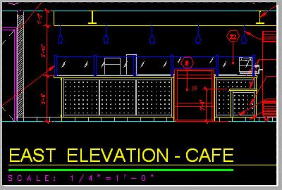 Cafe Design Floor Plan on CAD
