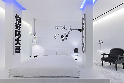 hotel design in two colors commercial interior design