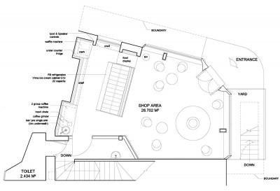 Gelato Store Interior Design Floor Plans