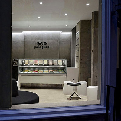 Gelato Store Design in London Embraces Simplicity of Modern Interior