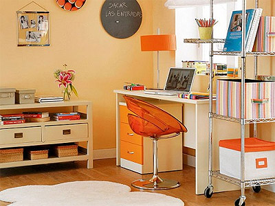 color of 2012 orange home office