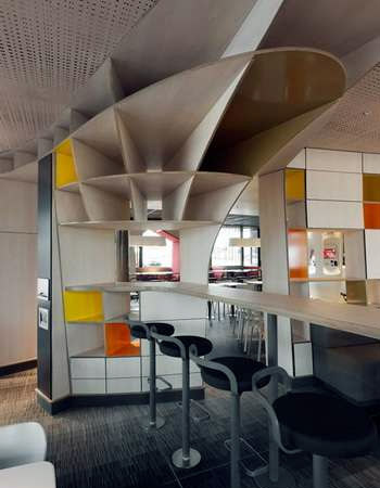 McDonalds interior rebranding