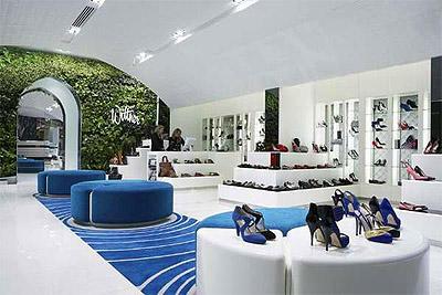 Shoe Store Interior Garden Design