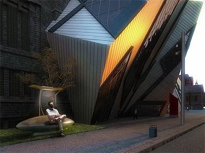 Solar Bench Bus Stop Design