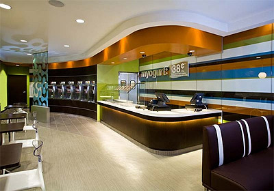 Fresh Yogurt Shop Design Idea - Commercial Interior Design