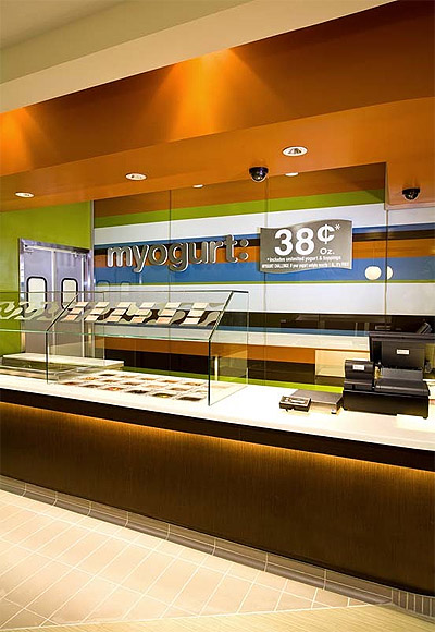 Yogurt shop interior colors