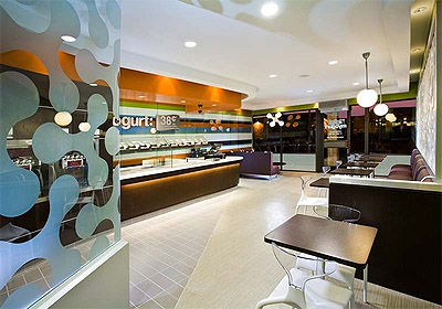 Yogurt shop interior design ideas