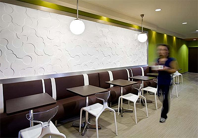 Yogurt shop lighting interior