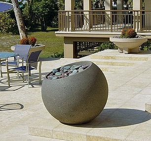 Concrete planters pots for exterior